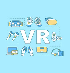 Virtual reality word concepts banner vector