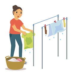 dry clothes vector image