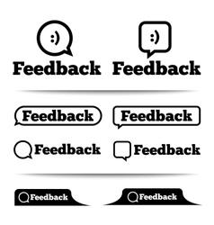 Feedback labels Feedback tags Feedback tab vector image