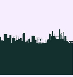 silhouette of the city vector image vector image