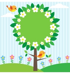tree frame vector image