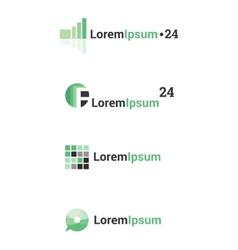 abstract logos set vector image vector image
