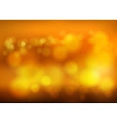 Bokeh blur romantic golden backdrop with fog vector image