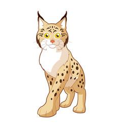 cartoon smiling lynx vector image
