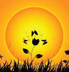 nature with sunset vector image