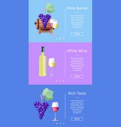 wine barrel and rich taste vector image vector image