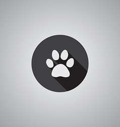 Cat footprint symbol flat vector image