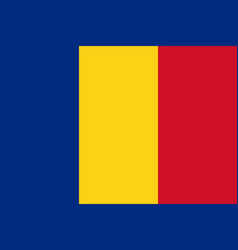 flag in colors of romania image vector image vector image