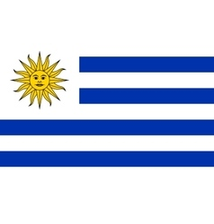Flag of Uruguay in correct proportions and colors vector image vector image