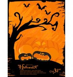 grunge Halloween theme vector image vector image