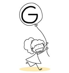 Happy alphabet hand-drawn cartoon vector image vector image