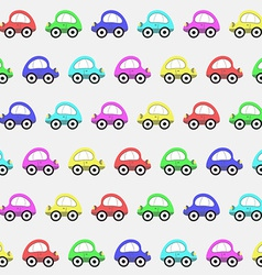 Seamless Pattern with Color Toy Car Background vector image vector image