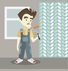 builder on a light background vector image vector image