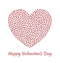 Red Heart Valentines Day Card Background vector image vector image