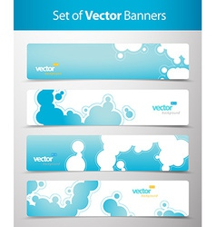 Set of abstract blue web headers vector image vector image