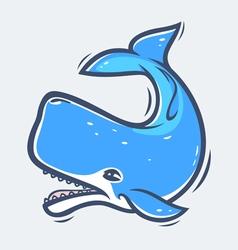 Sperm whale sea life vector image