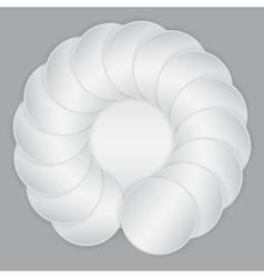 White circle paper sheets vector image