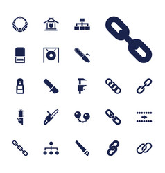 22 chain icons vector
