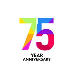 75 year anniversary template design vector