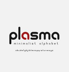 A minimalistic rounded alphabet vector