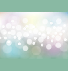 abstract bokeh on soft color background vector image
