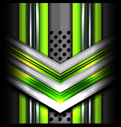 abstract green metal background vector image