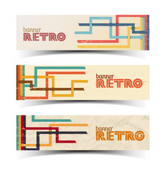 abstract retro horizontal banners vector image