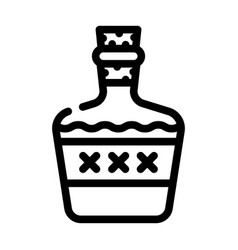 Alcoholic drink bottle line icon vector