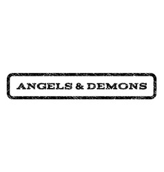 angels demons watermark stamp vector image