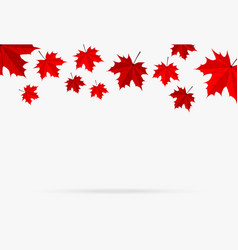Autumn red maple leaf fall isolated on white vector