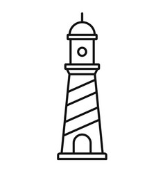 beacon icon outline style vector image