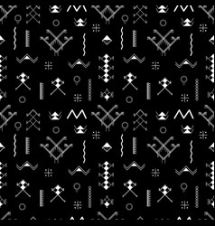 berber tattoos collection seamless pattern vector image