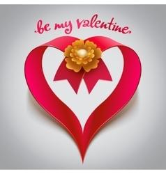 Big Red ribbon Heart vector
