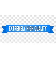 Blue ribbon with extremely high quality title vector