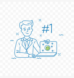 brand reputation management doodle icon vector image