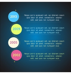 Bright timeline template infographic suitable for vector image