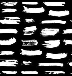brush stroke seamless pattern hand drawn grunge vector image