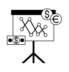 business board presentation money dollar euro vector image