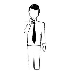 Business man wearing tie vector
