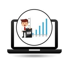 Businessman oil technology barrel financial chart vector