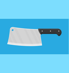 butcher knife kitchen cleaver knife for meat vector image