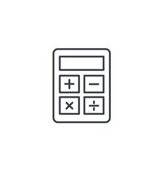 calculator thin line icon linear symbol vector image