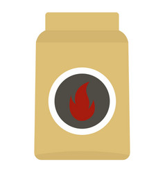 Cardboard box of matches icon isolated vector