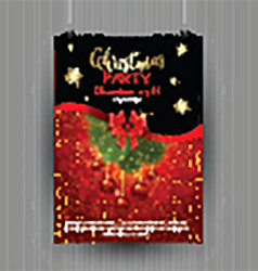 christmas party flyer design 1611 vector image