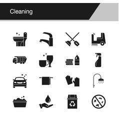 cleaning icons design for presentation graphic vector image