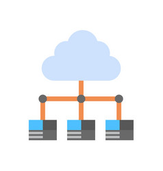 Cloud data center icon computer connection hosting vector