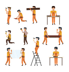 Construction workers avatar vector