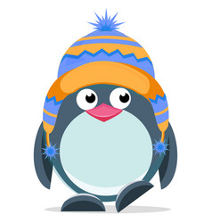 cute hand drawn penguin 3 vector image