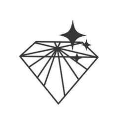 Diamond icon Gem design graphic vector image
