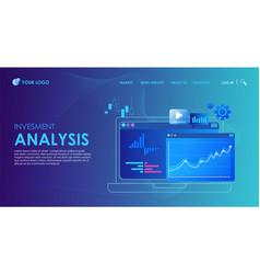 digital analysis webpage template flat ill vector image